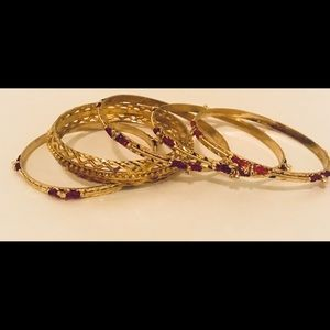 Jewelry - Gold Plated Bangle Set